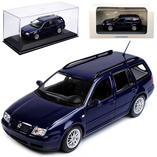 Minichamps Volkwagen Bora Variant Dunkel Blau 1998-2005 1/43 Modell Auto mit individiuellem Wunschkennzeichen