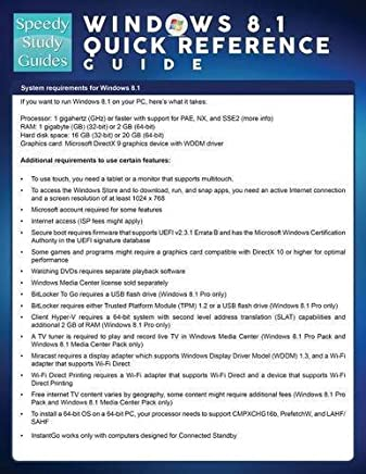 Windows 8.1 Quick Reference Guide (Speedy Study Guide) by Speedy Publishing LLC (2014-06-08)