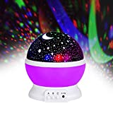 Jayden78 Toys for 2-10 Year Old Girls, Night Light Rotating Moon Stars Projector for Kids Toys for 4-5 Year Old Boys Birthday Christmas Gifts for 2-10 Year Old Boys&Girls(Purple)