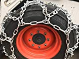 TireChain.com Compatible with John Deere 2025R R4 Rear 12-16.5 V-BAR Duo Grip Tire Chains
