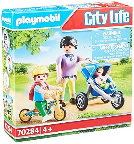 PLAYMOBIL City Life 70284 Mama mit Kindern, ab 4 Jahren