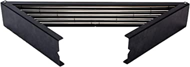 OKAS Stainless Steel Wall Mount Folding Rack for Clothes and Towel Drying/Hanger/Cloth Dryer Stand (Black)