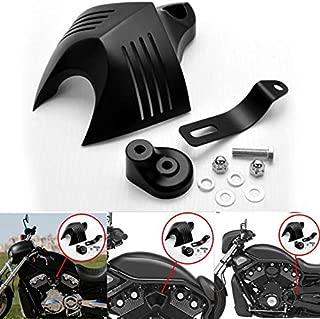 Motocicleta bocinas protectora Negro Cuerno Cover para 1992–2014Harley Davidson V Twin Cam Style