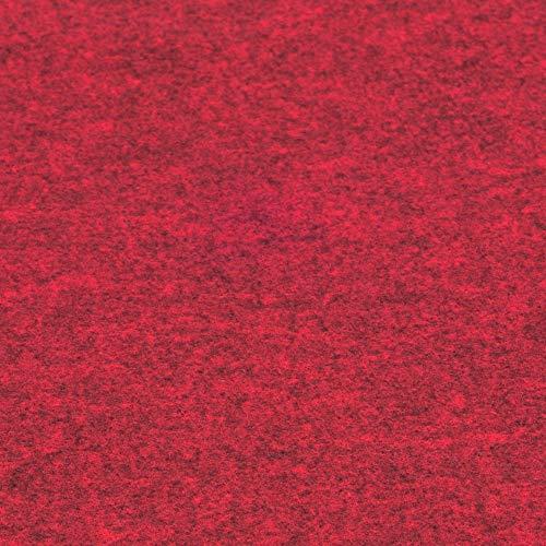 Rob&Raf Sitzkissen Auswahl Farbe Sitzauflage Stuhlauflage XL Filz Quadrat 40cm x 40cm Modern 14mm Stuhl Stuhlkissen Garten Zuhause Outdoor (Melange Rot)
