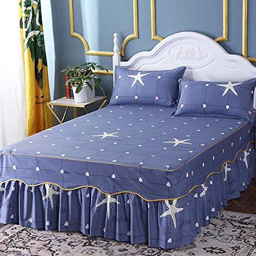 ChileYile Colcha Antideslizante CAMADO FODAJE FODAJE Pieza Hoja DE Pieza DE Pieza FOURSAL Universal Doble Doble Bed Regalo REGALO-Q180 * 200 cm (3pcs)