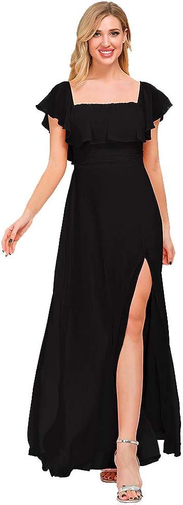 Womens Off 市販 The Shoulder Ruffle Party スピード対応 全国送料無料 Dresses Ma Split Side Beach