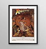 Poster incorniciato - Indiana Jones e i predatori dell'arca perduta locandina film 1931 - Artyexpress Made in Italy