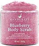 Handcraft Blueberry Body Scrub – Anti Aging Moisturizing and Exfoliating Scrub - Great for Acne Scars, Spider Veins, Stretch Marks, Fine Lines and Wrinkles – 10 oz