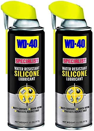 WD 40 Specialist Water Resistant Silicone Lubricant Spray 11 Ounces 2 Pack product image