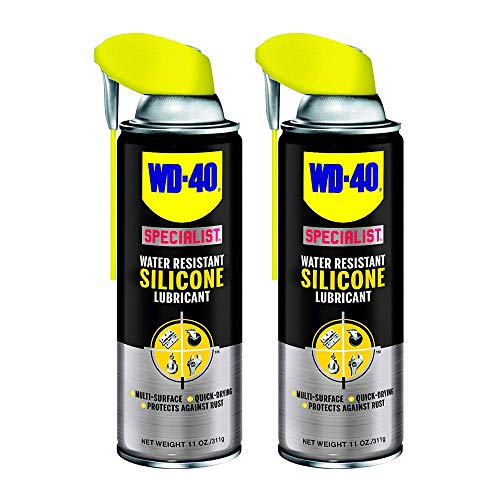 WD-40 Specialist Water Resistant Silicone Lubricant Spray, 11 Ounces (2 Pack)