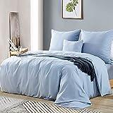 Ruikasi Bettbezug 220 x 240 cm, Spa-Blau, Bettwäsche für Doppelbett, mit Reißverschluss,...