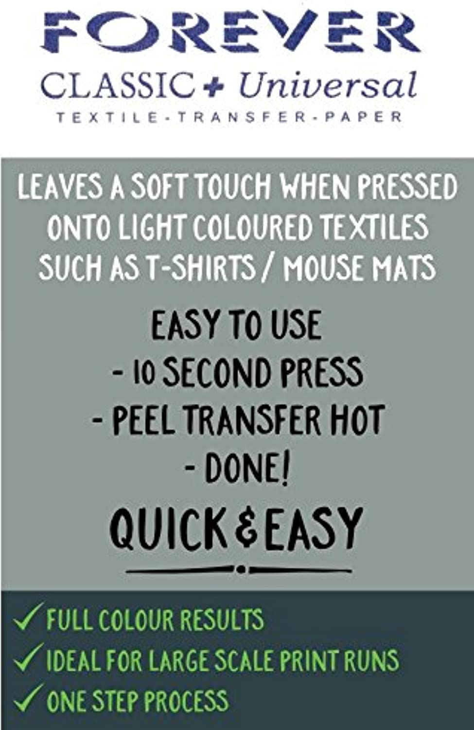 FOREVER TRANSFER PAPER  Classic + Universal (100 x A3)