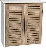 Mueble de baño TendanceStockholm con Doble Puerta de Madera MDF, Color Blanco o Roble y tamaño de 52x 22x 53,5cm