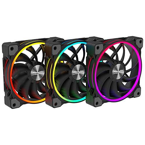 Alpenföhn - Wing Boost 3 ARGB 120mm mit 3 PWM Lüftern Gehäusekühler, CPU Kühler Haben einen Maximalen 1600RPM Lüfter kompatiblen Kühler Innenraum PC Gehäuse.