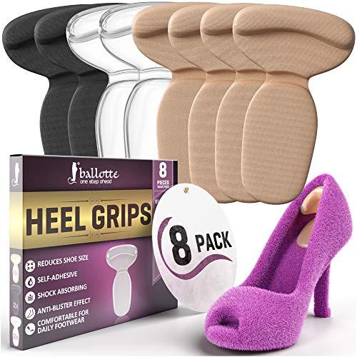 Prämie Fersenpolster für Unbequem High Heels - Fersensporn Einlagen für Große Schuhe - Schuheinlagen aus Gel Fersenhalter Fersenschutz Einlagen Damen Pumps