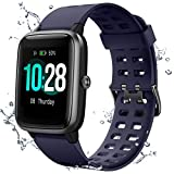 Muzili Smart Watch IP68 Waterproof Fitness Tracker for Swimming 1.3'' Large Color Full