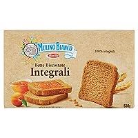 mulino bianco fette biscottate integrali, colazione ricca di fibre e gusto - 630 g
