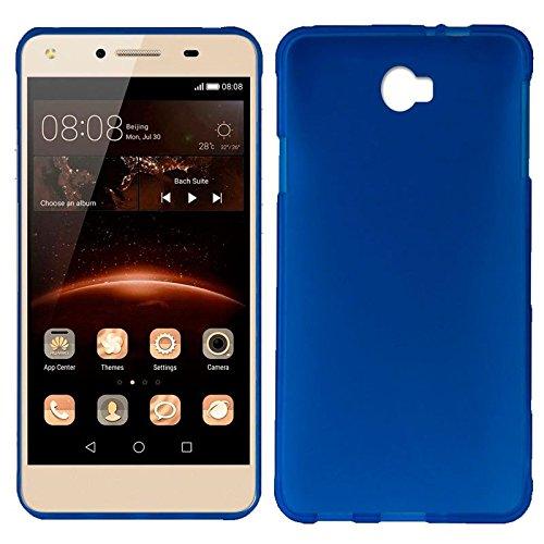 Mb Accesorios Funda Carcasa Gel Azul para Huawei Y5 II/Y6 Compact, Ultra Fina 0,33mm, Silicona TPU de Alta Resistencia y Flexibilidad