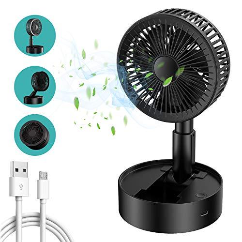 Babacom Mini Ventilador De Escritorio Portátil Telescópico Plegable Tipo De Almacenamiento Pequeño Ventilador Inalámbrico USB De Oficina