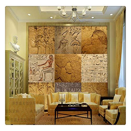 Tapeten Fototapete Vintage Ägypten 3D Nahtlose Große Wandbild Tapete Videowand Cafe Bar Ktv Internet Bar Hintergrundbild, 250Cmx175Cm