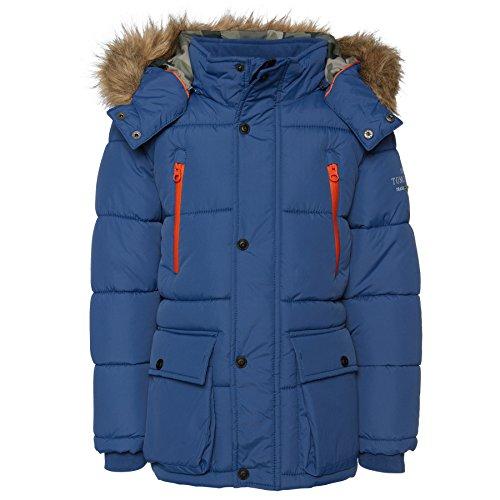 TOM TAILOR Kids Jungen tech Parka Style Jacke, Blau (original 1000), 134 (Herstellergröße: 128/134)