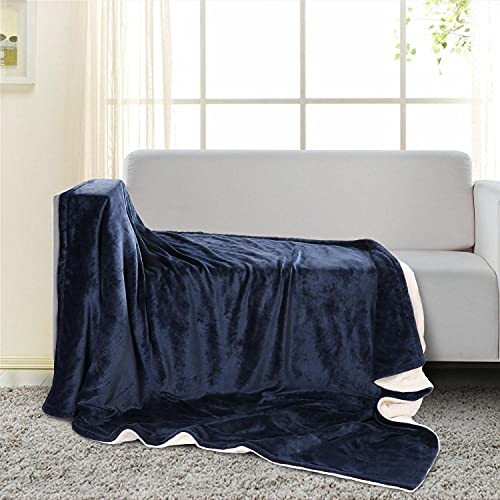 Manta electrica 130*180cm, Manta calefactora con 6 niveles de Calentamiento, Calentamiento rápido & Protección contra sobrecalentamiento, Tejido suave lavable, Control de tiempo para uso nocturno