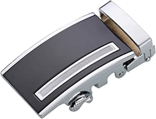 D DOLITY Metal Automatic Slide Buckle Replacement Ratchet Belt Buckle Formal Business Belt Accessories for Men