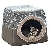YunNasi Katzenhöhle Katzen Haus Katzenbett Haustier Pet Nest Schlafsack 2