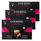 Café Royal Lungo Forte, Café, Café, Cápsulas de Café Tostado, Compatible con Nespresso, 99Cápsulas