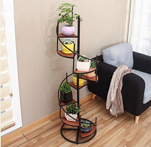 QFF American Retro Flower Stand Iron Multi-étages Balcon Balcon Pots de plancher ( taille : 40*19*120cm )