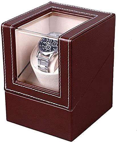 PLMOKN Caja de Relojes de la Mesa de bobinado automático, Cuero de...