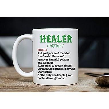 Tank Healer DPS Mug - WoW Coffee Mug - Gift For Roleplayers - WoW Mugs - Roleplay Mugs - 11oz Novelty Christmas Birthday Mug