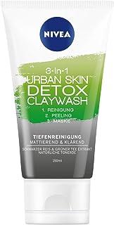 NIVEA 3-in-1 Urban Skin Detox Claywash in 3-pack (3 x 150 ml), gezichtsreiniging met peeling & gezichtsmasker, diepreinige...