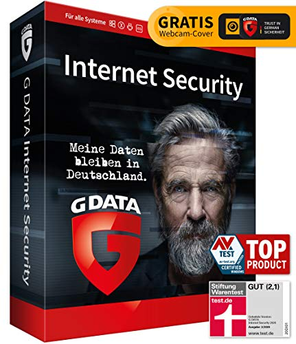 G DATA Internet Security 2020, 1 Gerät - 1 Jahr, DVD-ROM inkl. Webcam-Cover, Antivirenprogramm für PC, Mac, Android, iOS