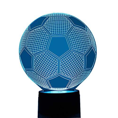 lzndeal 3D Visuelle Nachtlicht Fußball USB 7 Farben Ändern Fußball Lampe Für Schlafzimmer Dekoration Kinder Geburtstagsgeschenke