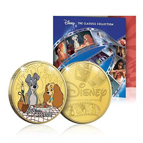IMPACTO COLECCIONABLES Disney Classic Komplettkollektion 04 - 24 Karat vergoldet mit Farbe 44mm - Plus KOSTENLOSES Sammlerpaket