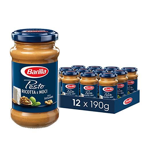 Barilla nussiges Pesto Ricotta e Noci – Pesto 12er Pack (12x190g)