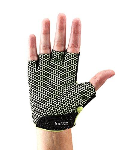 Fitness Mad ToeSox Yoga- und Pilates-Handschuh, Lime, Größe S