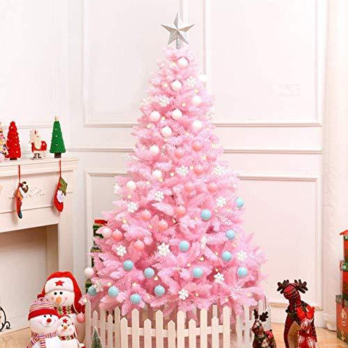 weiwei Árbol de Navidad Artificial con bisagras de Abeto PVC ecológico Árbol de Pino de Navidad Árboles de decoración navideña Natural Premium con Cuerda de luz Top Star Soporte Plegable de Metal,