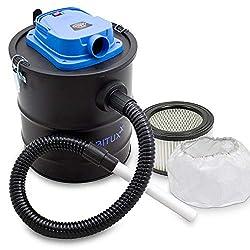 Bituxx Aschesauger Kaminsauger mit Motor 1200W Kaminreiniger Aschestaubsauger Rußsauger Asche Sauger Hepa Filter HEPA (Aschesauger mit Filter)
