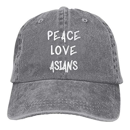 Jopath Peace Love - Gorra de béisbol ajustable de algodón lavable, diseño asiático