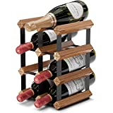 Countertop Wine Rack - 6 Bottle Wine Holder w/ 2 Extra Slots - No Assembly Required -...