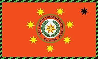 American Vinyl Cherokee Nation Oklahoma Flag Sticker (Decal Tribe Native)