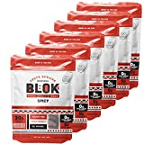 BLOK Biltong Spicy Flavored Air Dried Grass-Fed Beef Hand Sliced High Protein (30g) Gluten Free Paleo Friendly All Natural Snack - 2oz - 6 Pack