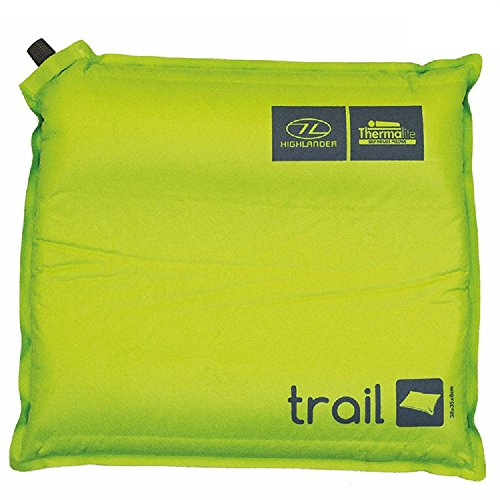 Highlander Outdoor Products Trail Self Inflating Air Camping Travel Pillow Cushion Mat With Stuff Sack - Green