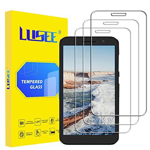 Lusee 3 Stück Schutzfolie für Alcatel 1 5.0 [9H Festigkeit] Bildschirmschutzfolie HD Schutzfolie [Anti Kratzer] [Anti Fingerabdruck] 2.5D Panzerfolie für Alcatel 1 5.0