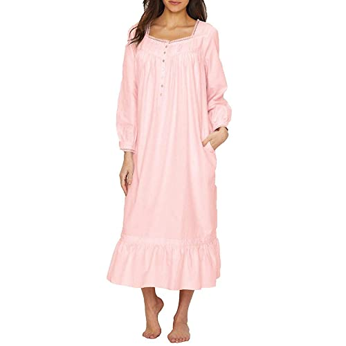 81dac9eaf8 Eileen West Womens Embroidered Flannel Ballet Nightgown