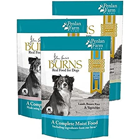 12 x 400g Burns Penlan Farm Complete Wet Dog Food Pouches Multi-Pack