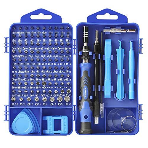XUBX 117 en 1 Juego de Destornilladores de Precisión con Magnetizador, Kit de Herramientas Precision de Reparación de Bricolaje Profesional para reparación de PC,Teléfonos Móviles,Cámara,electrónicos