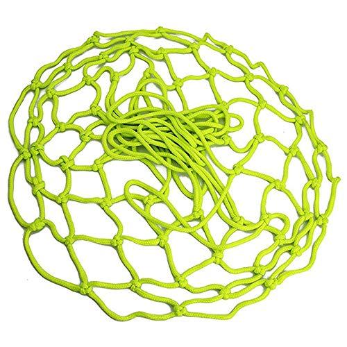 gdangel Ball Net Bag New Luminous Basketball Net Fluorescent Night Selbstleuchtendes Basketballnetz Fluorescent-grün 50